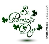 st. patrick's day type text | Shutterstock .eps vector #94113214
