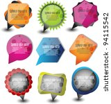 colorful speech bubbles or... | Shutterstock .eps vector #94115542