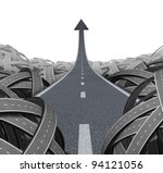 escape to success path with a... | Shutterstock . vector #94121056