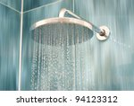 head shower while running water | Shutterstock . vector #94123312