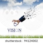 art work of business hand with...   Shutterstock . vector #94124002