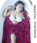 beautiful asian woman bath... | Shutterstock . vector #94125958