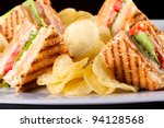 Group Of Club Sandwiches With...
