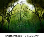 illustration of a deep green... | Shutterstock . vector #94129699