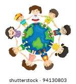 kids diversity | Shutterstock .eps vector #94130803