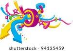 ornament arrow | Shutterstock .eps vector #94135459