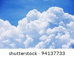 sky clouds background. | Shutterstock . vector #94137733