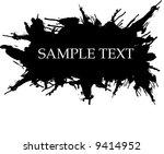 grunge splatter | Shutterstock .eps vector #9414952