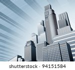 abstract blue corporate city... | Shutterstock .eps vector #94151584