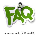 green faq sticker over a white... | Shutterstock . vector #94156501