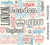 london typography seamless... | Shutterstock .eps vector #94161436