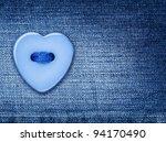 Blue Heart Shape Button  Sewed...