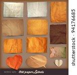scrapbooking set. old paper... | Shutterstock .eps vector #94176685