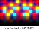 Colorful 80s Club Dancefloor...