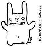 Mutant Rabbit Cartoon  Raster...
