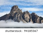 Mountains In The Alps With...