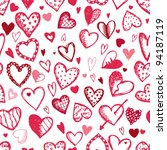 seamless pattern with valentine ... | Shutterstock .eps vector #94187119