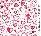 Seamless Pattern With Valentine ...