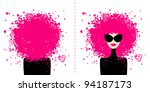 design card with fashion woman... | Shutterstock .eps vector #94187173