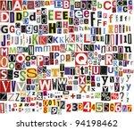 big size newspaper  magazine... | Shutterstock . vector #94198462