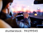 driving a car at night | Shutterstock . vector #94199545