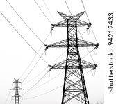 Electricity Pylon Isolated On...