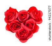 Red Roses In Heart Form...