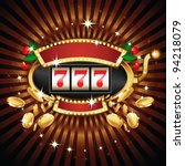 a slot fruit machine with... | Shutterstock .eps vector #94218079