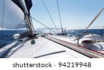 the yacht is moving along the... | Shutterstock . vector #94219948