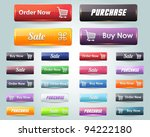 web elements vector button set | Shutterstock .eps vector #94222180