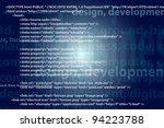 Source code technology background, editable vector - stock vector