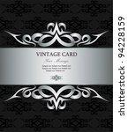luxury silver vintage card | Shutterstock .eps vector #94228159
