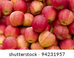 A group of red and fresh Apples - stock photo