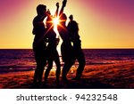 people  two couples  on the...   Shutterstock . vector #94232548