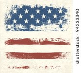 american flag vintage textured... | Shutterstock .eps vector #94233340