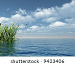 Water Landscape And Reed   3d...