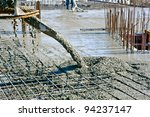 concrete pouring during... | Shutterstock . vector #94237147