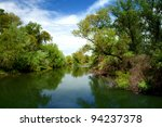 channel landscape in danube... | Shutterstock . vector #94237378