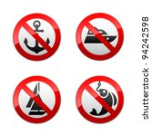 Set Prohibited Signs   Fishing
