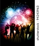 silhouettes of people dancing...   Shutterstock .eps vector #94243963