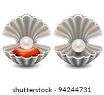 open seashell with pearl | Shutterstock .eps vector #94244731