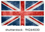 grungy uk flag on vintage paper | Shutterstock . vector #94264030