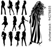 vector black silhouettes of... | Shutterstock .eps vector #94278835
