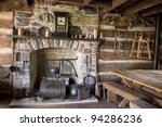 The Fireplace And Utensils Of...