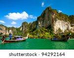 rocks in krabi  thailand   Shutterstock . vector #94292164