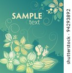 Floral Design Vector. Abstract...