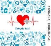 heart cardiogram with heart.... | Shutterstock .eps vector #94298089