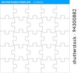 complete puzzle   jigsaw... | Shutterstock .eps vector #94300882