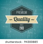 old vector dark retro vintage... | Shutterstock .eps vector #94300885