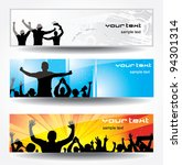 advertising banner for sports... | Shutterstock .eps vector #94301314